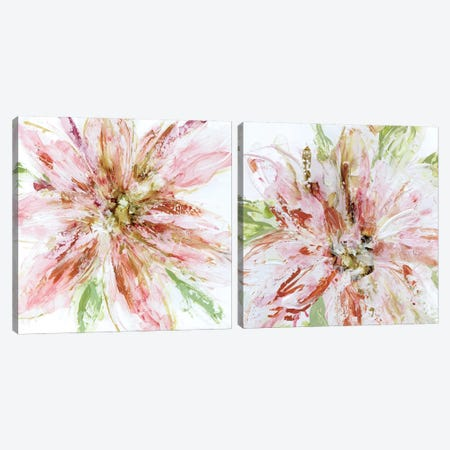 Floral Strokes Diptych Canvas Print Set #CRO2HSET010} by Carol Robinson Canvas Print