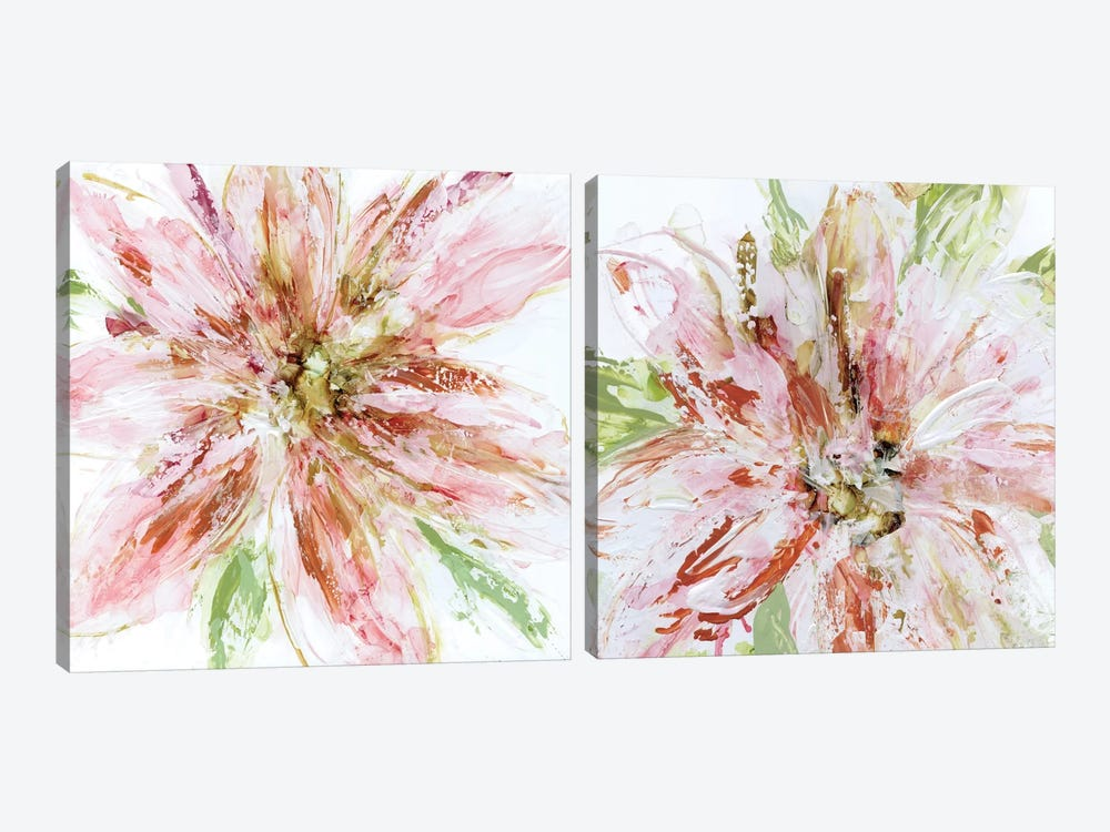 Floral Strokes Diptych by Carol Robinson 2-piece Canvas Print