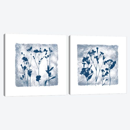 Indigo Summer Silhouettes Diptych Canvas Print Set #CRO2HSET011} by Carol Robinson Canvas Art Print