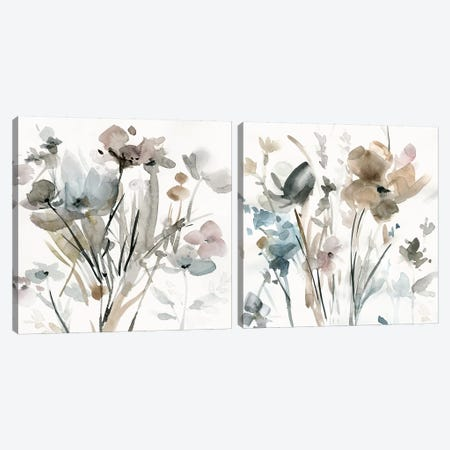 Dainty Blooms Diptych Canvas Print Set #CRO2HSET013} by Carol Robinson Canvas Print