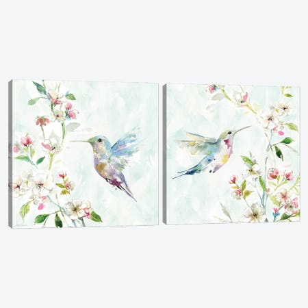 Hummingbird Diptych Canvas Print Set #CRO2HSET017} by Carol Robinson Canvas Artwork