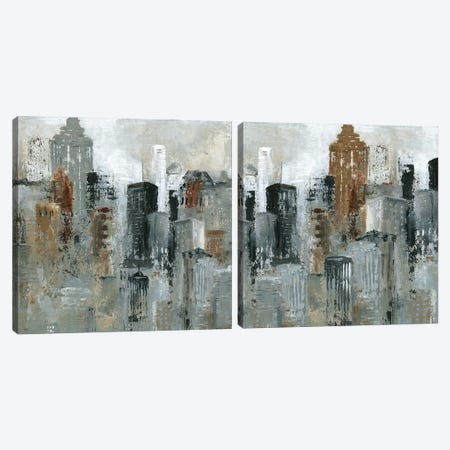 Lights of the City Diptych Canvas Print Set #CRO2HSET022} by Carol Robinson Canvas Art