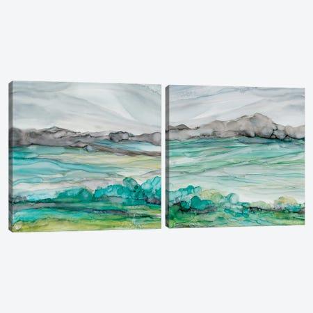 Sea of Marble Diptych Canvas Print Set #CRO2HSET025} by Carol Robinson Art Print