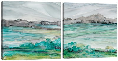 Sea of Marble Diptych Canvas Art Print