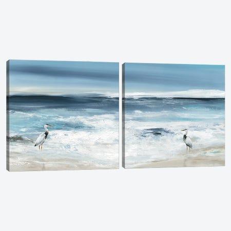 Tidal Fishing Diptych Canvas Print Set #CRO2HSET026} by Carol Robinson Art Print