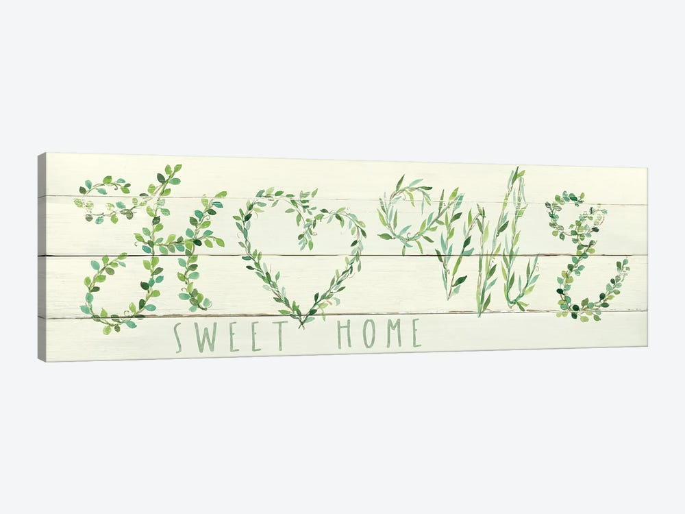 Shiplap Vines: Home by Carol Robinson 1-piece Canvas Art Print