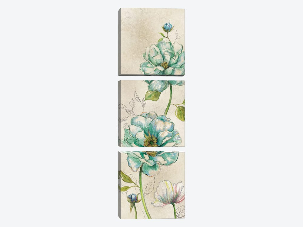 Sketches In Blue II 3-piece Canvas Wall Art