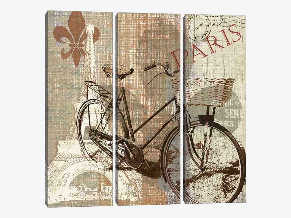 Paris Trip by Carol Robinson 3-piece Canvas Wall Art