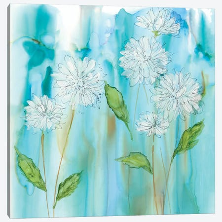 White Garden Flow Canvas Print #CRO324} by Carol Robinson Art Print