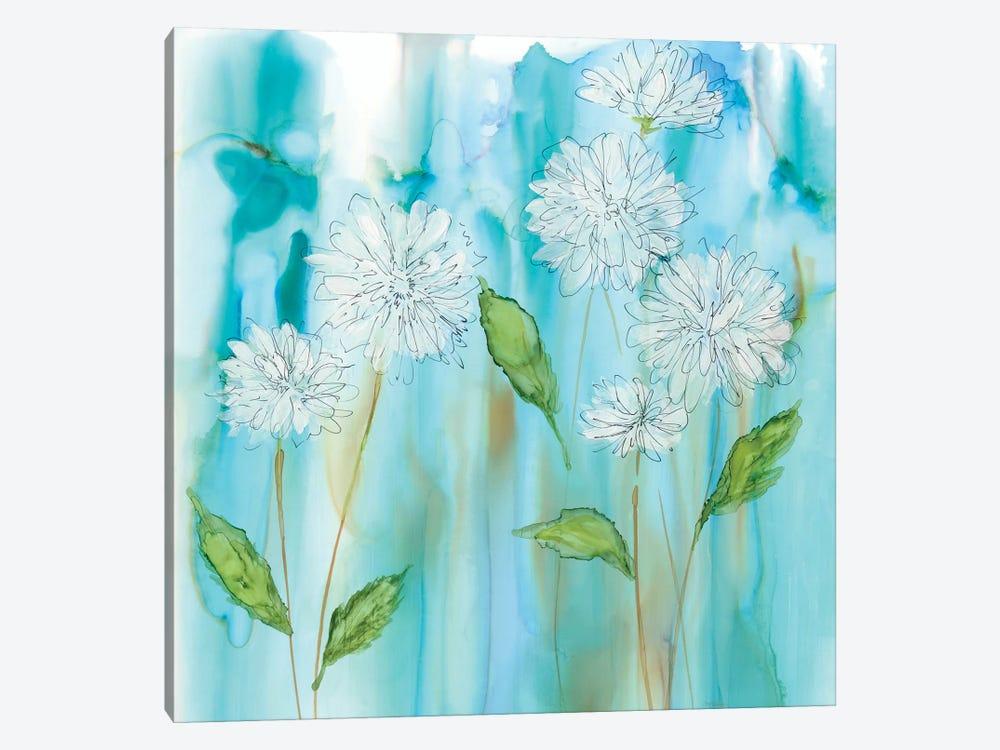 White Garden Flow by Carol Robinson 1-piece Canvas Print