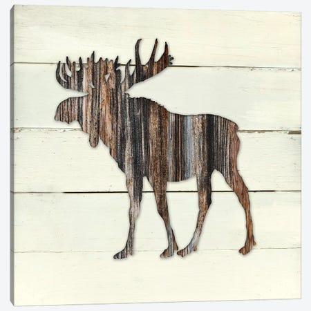 Woodland Moose Canvas Print #CRO329} by Carol Robinson Canvas Artwork