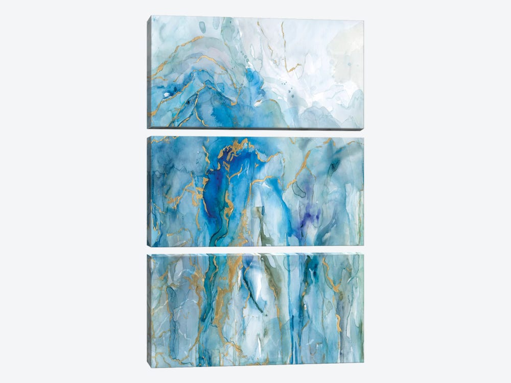 Abstract Lapis by Carol Robinson 3-piece Canvas Art Print