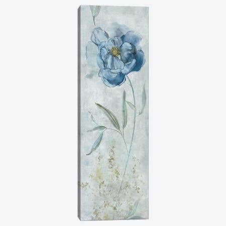 Blue Peony Canvas Print #CRO335} by Carol Robinson Canvas Artwork