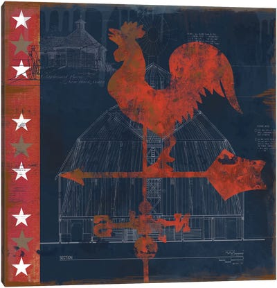 Rooster Vane Canvas Art Print