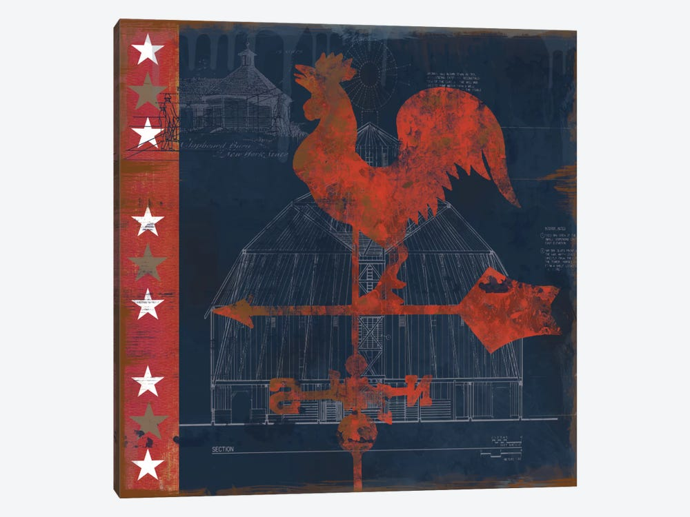 Rooster Vane by Carol Robinson 1-piece Canvas Art Print