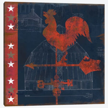 Rooster Vane Canvas Print #CRO33} by Carol Robinson Canvas Art Print