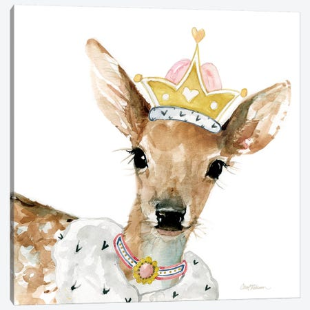 Glamour Girls: Deer Canvas Print #CRO347} by Carol Robinson Art Print