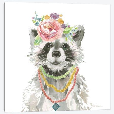 Glamour Girls: Raccoon Canvas Print #CRO350} by Carol Robinson Canvas Art Print