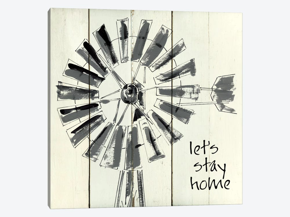 Let's Stay Home by Carol Robinson 1-piece Art Print