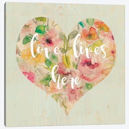 Love Lives Here Canvas Print #CRO357} by Carol Robinson Canvas Wall Art