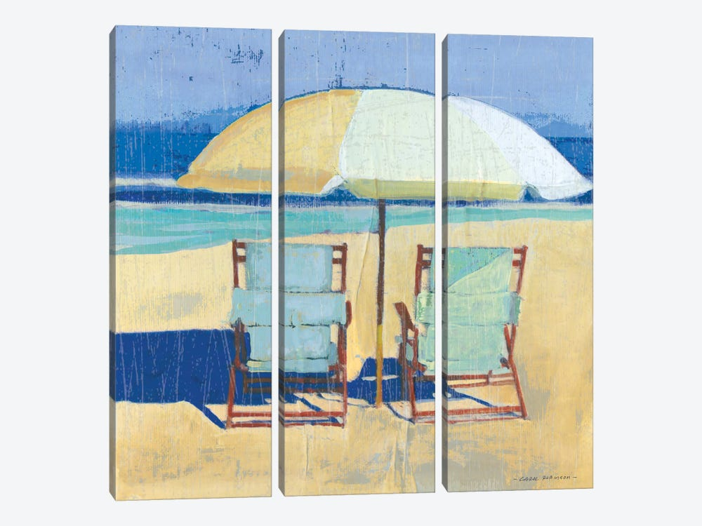 Seating For II by Carol Robinson 3-piece Canvas Artwork