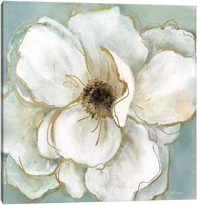 Soft Teal Splendor II Canvas Art Print