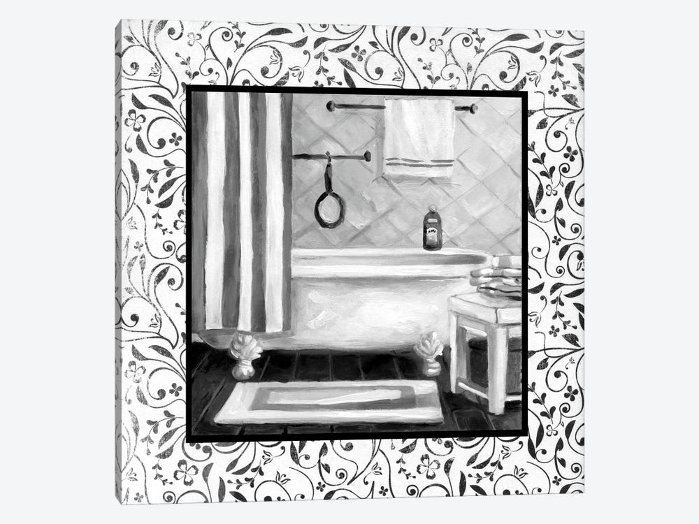 Black And White Bath I 1-piece Canvas Wall Art