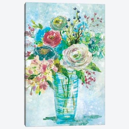 Blue Bouquet I Canvas Print #CRO392} by Carol Robinson Canvas Art Print