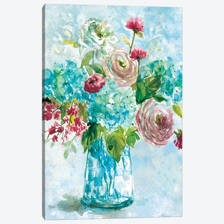 Blue Bouquet II Canvas Print #CRO393} by Carol Robinson Canvas Print