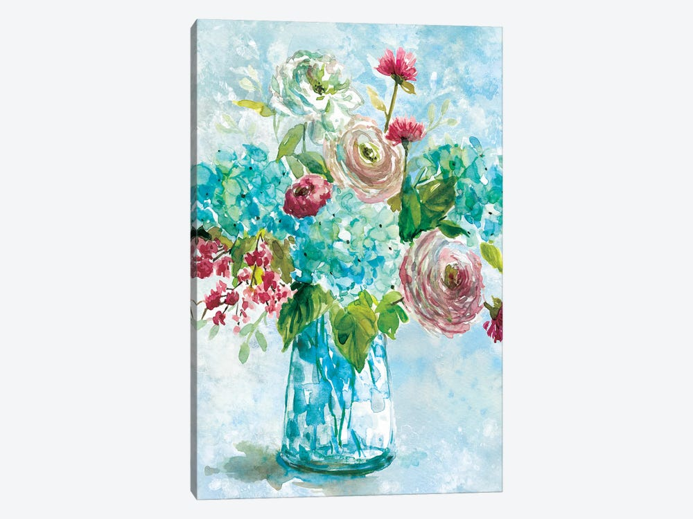 Blue Bouquet II by Carol Robinson 1-piece Canvas Print