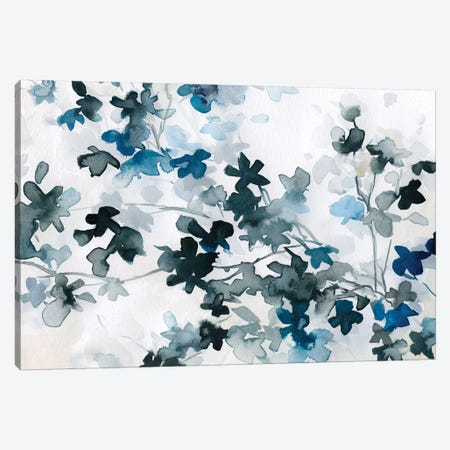 Blue Cherry Blossoms Canvas Print #CRO394} by Carol Robinson Canvas Art