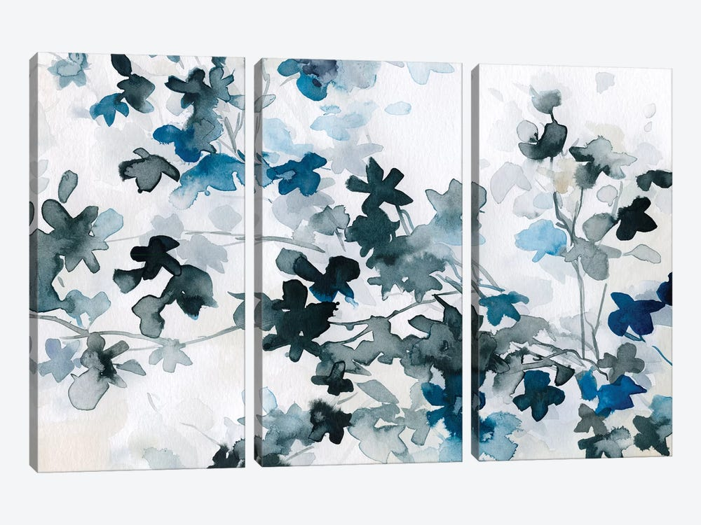 Blue Cherry Blossoms by Carol Robinson 3-piece Canvas Wall Art