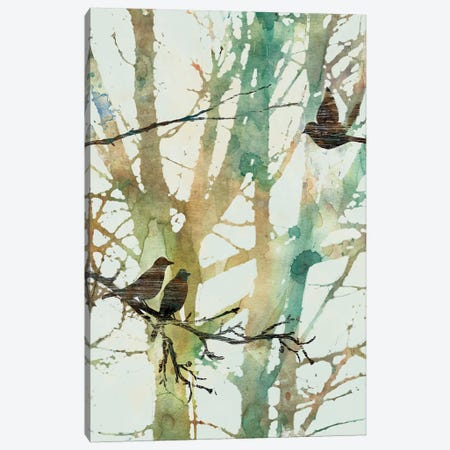 Botanical Birds I Canvas Print #CRO395} by Carol Robinson Canvas Art