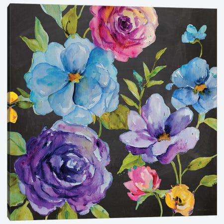 Chalk Flower Medley I Canvas Print #CRO397} by Carol Robinson Canvas Art