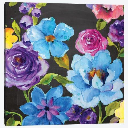 Chalk Flower Medley II Canvas Print #CRO398} by Carol Robinson Art Print