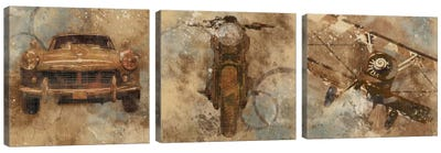 Live To Ride Triptych Canvas Art Print