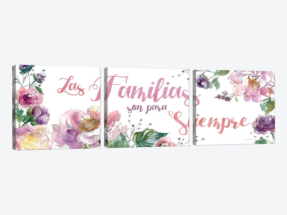 Familias Siempre by Carol Robinson 3-piece Canvas Wall Art