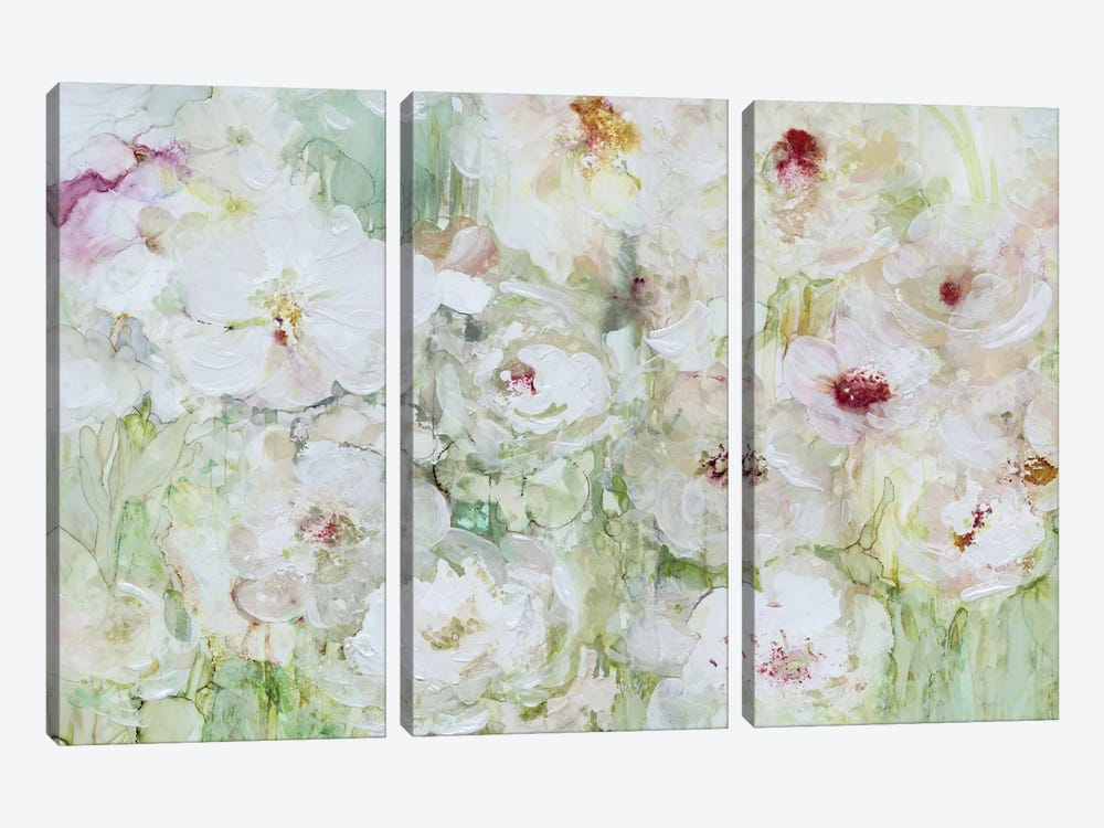 Jardin Blanc by Carol Robinson 3-piece Canvas Wall Art