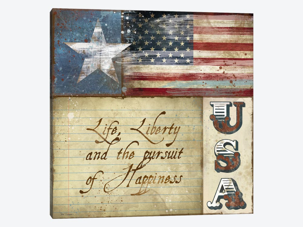 USA by Carol Robinson 1-piece Canvas Art Print