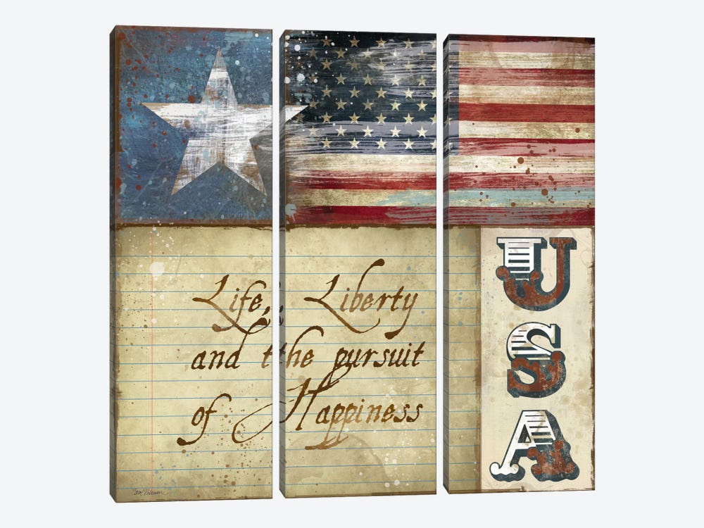 USA by Carol Robinson 3-piece Canvas Print
