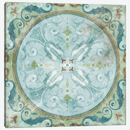 Antique Tile Canvas Print #CRO418} by Carol Robinson Canvas Artwork