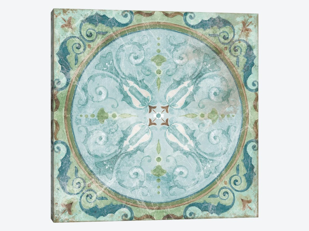 Antique Tile by Carol Robinson 1-piece Art Print