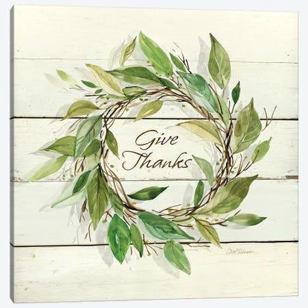 Bay Leaf Give Thanks Canvas Print #CRO419} by Carol Robinson Canvas Wall Art