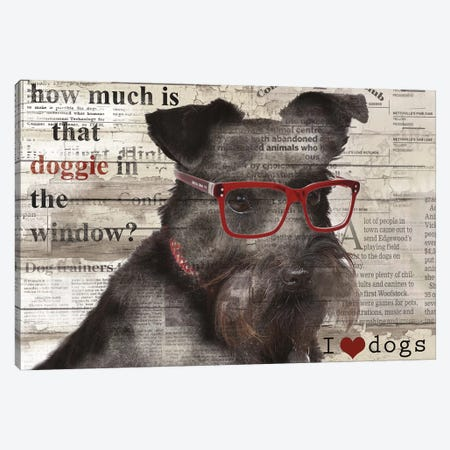 Doggie In Window Canvas Print #CRO41} by Carol Robinson Canvas Wall Art