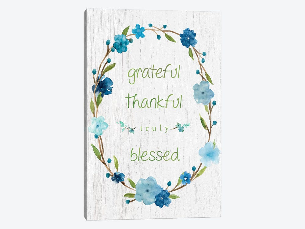 Blessed Flower Wreath by Carol Robinson 1-piece Canvas Artwork