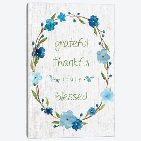 Blessed Flower Wreath Canvas Print #CRO422} by Carol Robinson Canvas Print