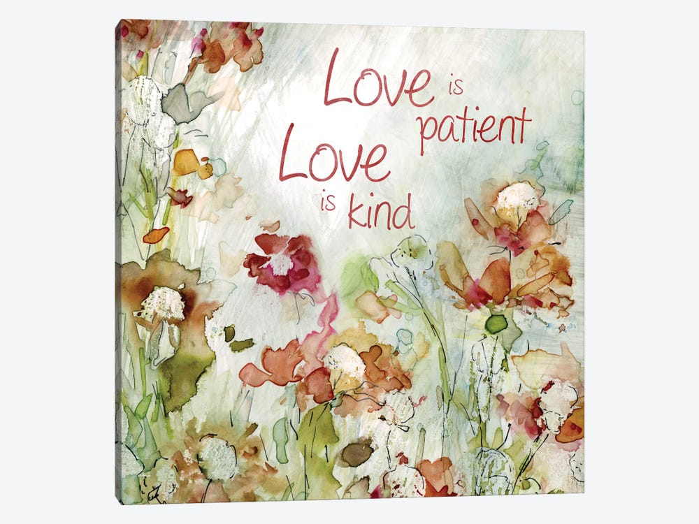 Delicate Garden Love by Carol Robinson 1-piece Canvas Art