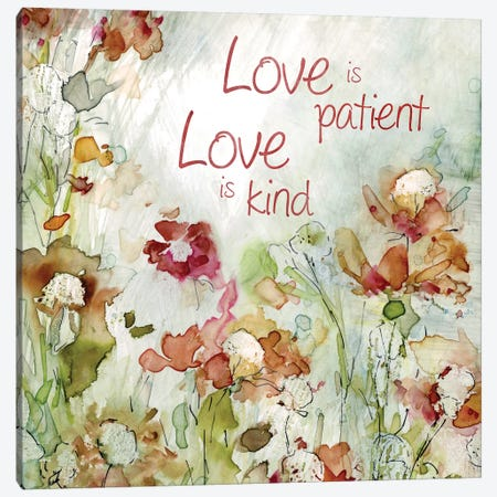 Delicate Garden Love Canvas Print #CRO426} by Carol Robinson Canvas Art