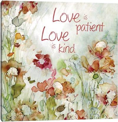 Delicate Garden Love Canvas Art Print