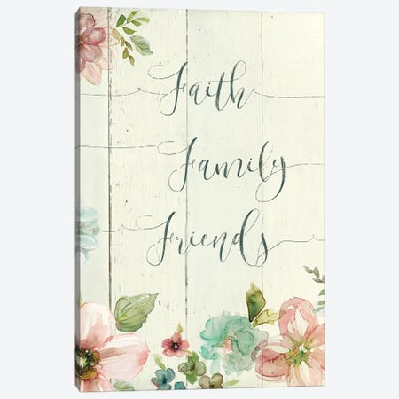 Faith Family Friends Canvas Print #CRO428} by Carol Robinson Canvas Art Print